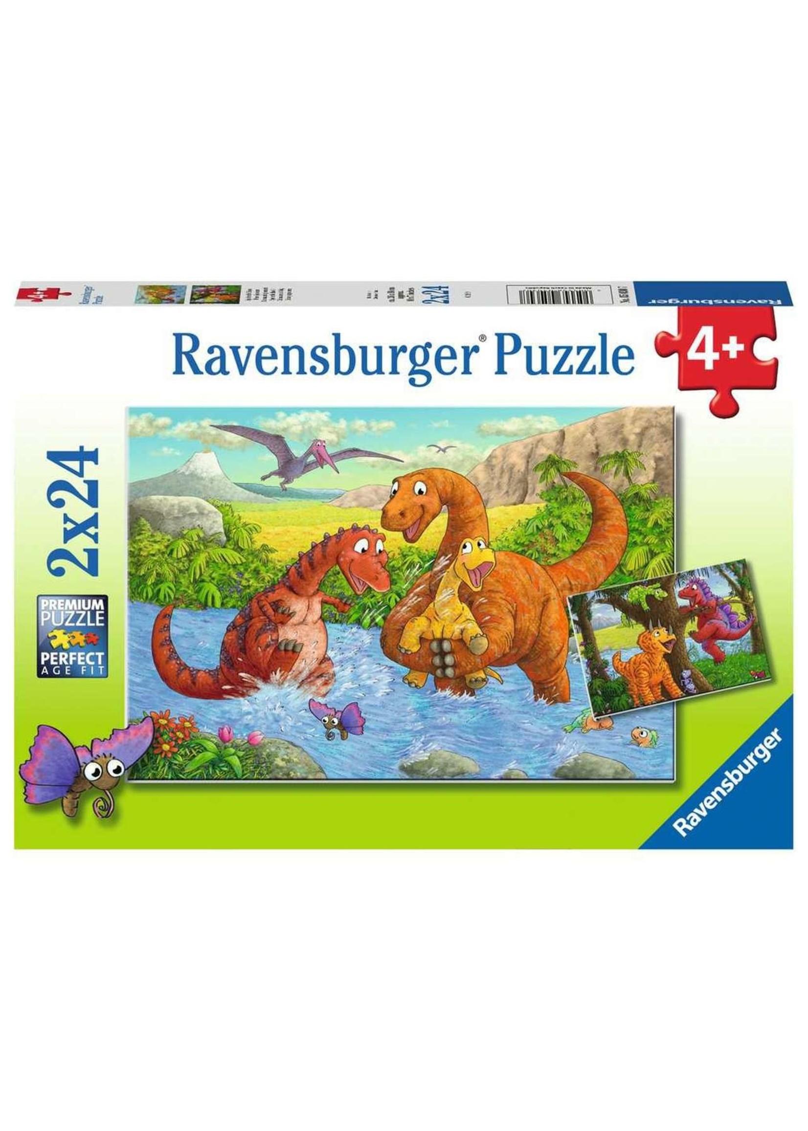 Ravensburger 2x24pc puzzle Dinosaurs at Play
