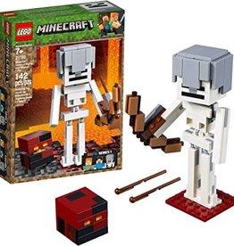 Lego Minecraft Skeleton w/ Magma block