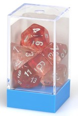 Chessex Lab Dice Luminary Nebula Poly 7 set: Red w/ Silver