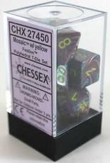 Chessex 7-setCube Festive Mosaic/ye (7)
