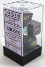 Chessex Festive Poly 7 set: Mosaic w/ Yellow