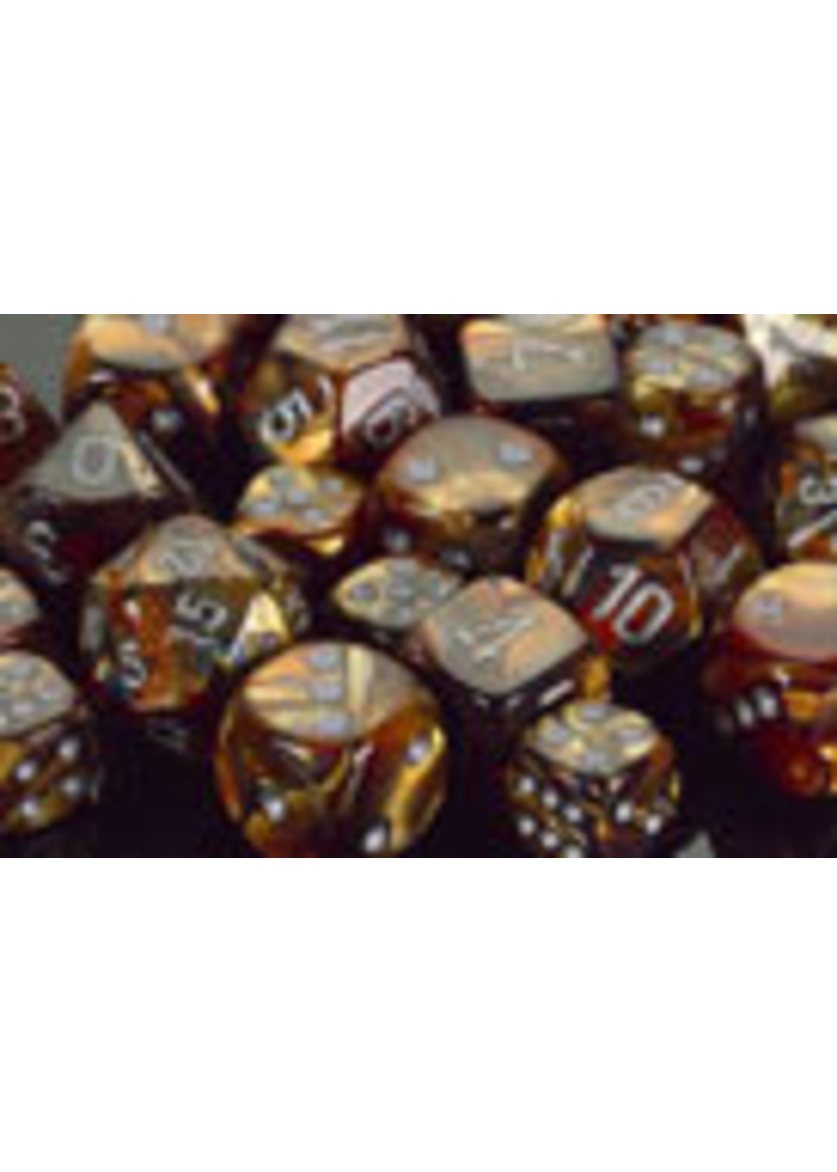 Chessex Lustrous Poly 7 set: Gold w/ Silver