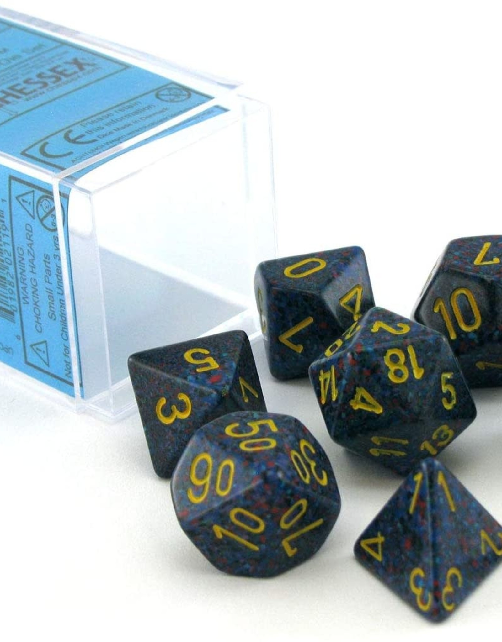 Chessex Speckled Poly 7 set: Twilight