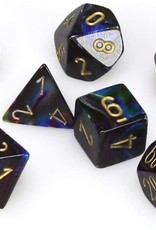 Chessex Lustrous Poly 7 Set: Shadow w/ Gold