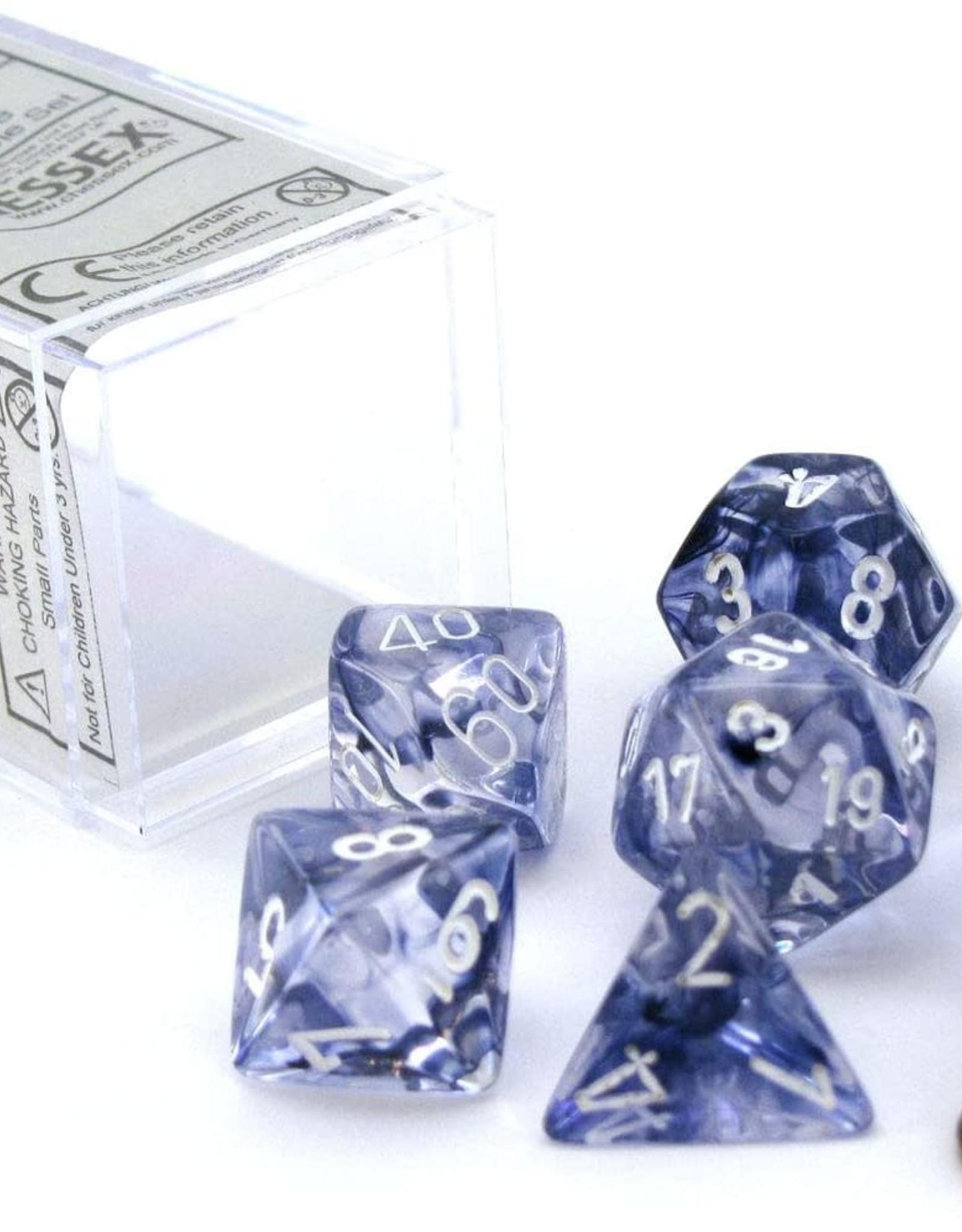Chessex Chessex Nebula Black 7 piece dice set CHX-27408