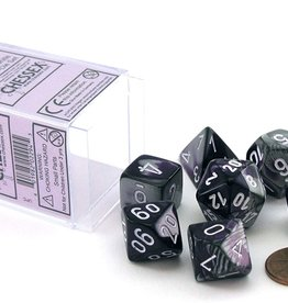 Chessex Chessex Dice Polyhedral 7-Die Gemini Set - Purple-Steel with White CHX-26432