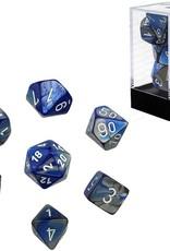 Chessex Chessex CHX26423 Dice-Gemini Blue-Steel/White Set