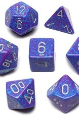 Chessex Speckled Poly 7 set: Silver Tetra