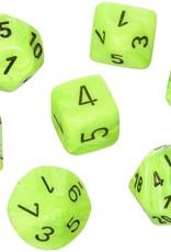 Chessex Vortex Poly 7 set: Bright Green w/ Black