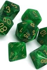 Chessex Chessex CHX27435 Dice-Vortex Green/Gold Set