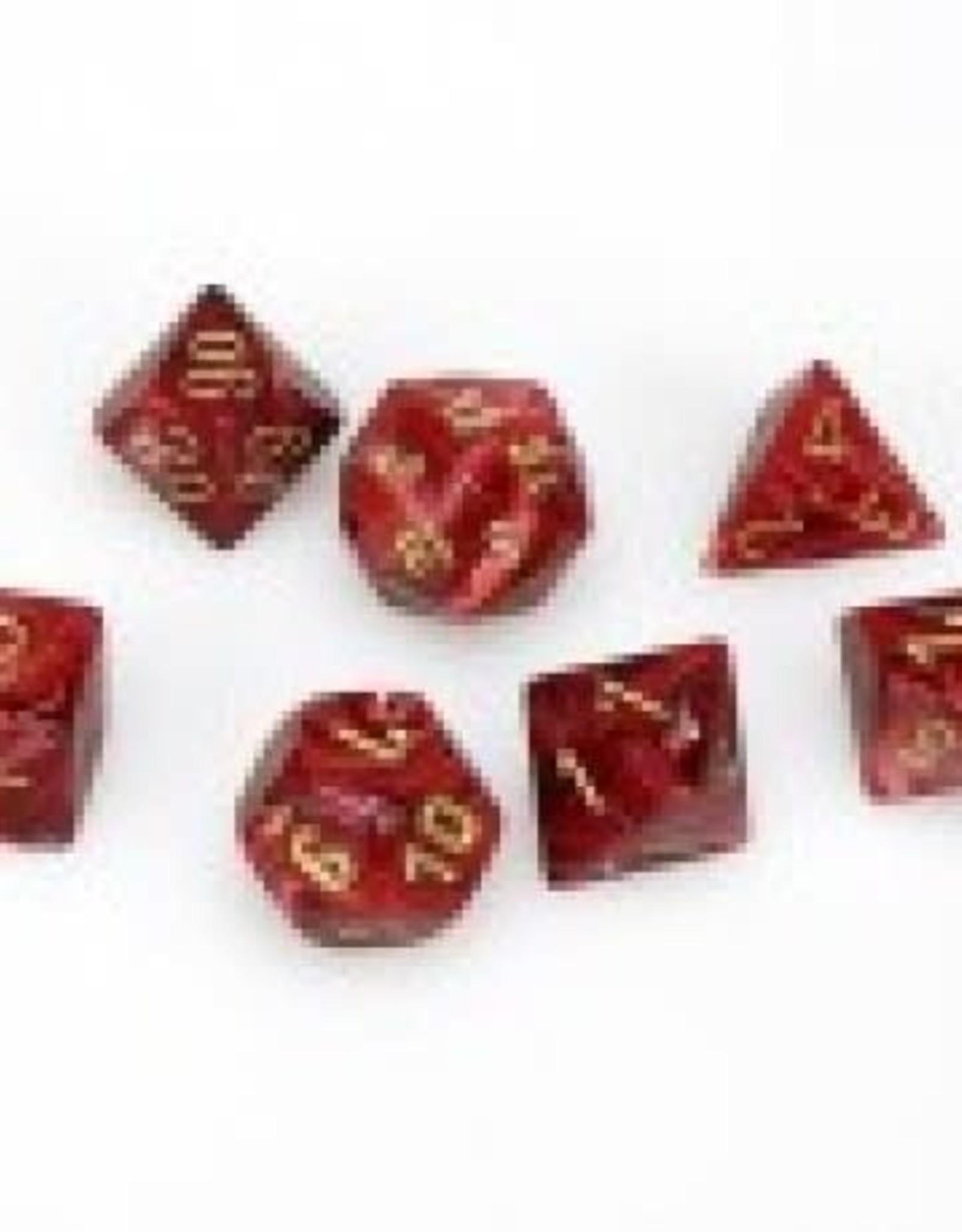 Chessex Gamersroll CHX27434 Chessex Manufacturing Vortex: Poly Burgundy/Gold