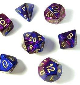 Chessex Chessex CHX26428 Dice-Gemini Set, Blue/Purple/Gold