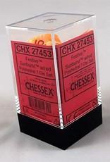 Chessex Chessex Festive Polyhedral Sunburst W/Red 7-Die Set