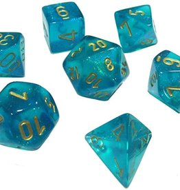 Chessex Chessex CHX27486 Dice-Borealis Teal/Gold Set