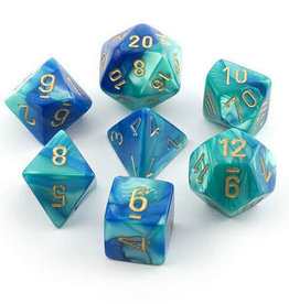 Chessex eBay Poly Dice 7 Set Blue & Teal W/gold Quality Chessex Manufacturing Chx26459