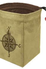 Red King Embroidered Bag: Compass Rose