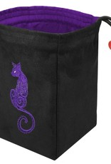 Red King Embroidered Dice Bag: Baroque Cat