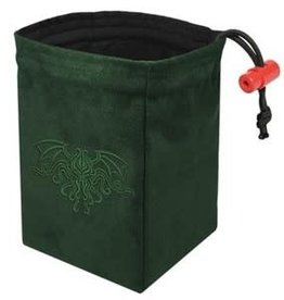 Red King Embroidered Bag: Cthulhu Crest Green