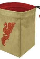 Red King Embroidered Bag: Baroque Phoenix