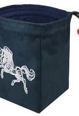 Red King Embroidered Bag: Fantasy Unicorn