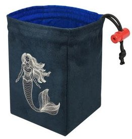 Red King Embroidered Bag: Dimensional Mermaid - Glow in the Dark