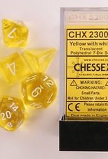 Chessex: Translucent Yellow/White Set of 7 Dice (CHX23002)
