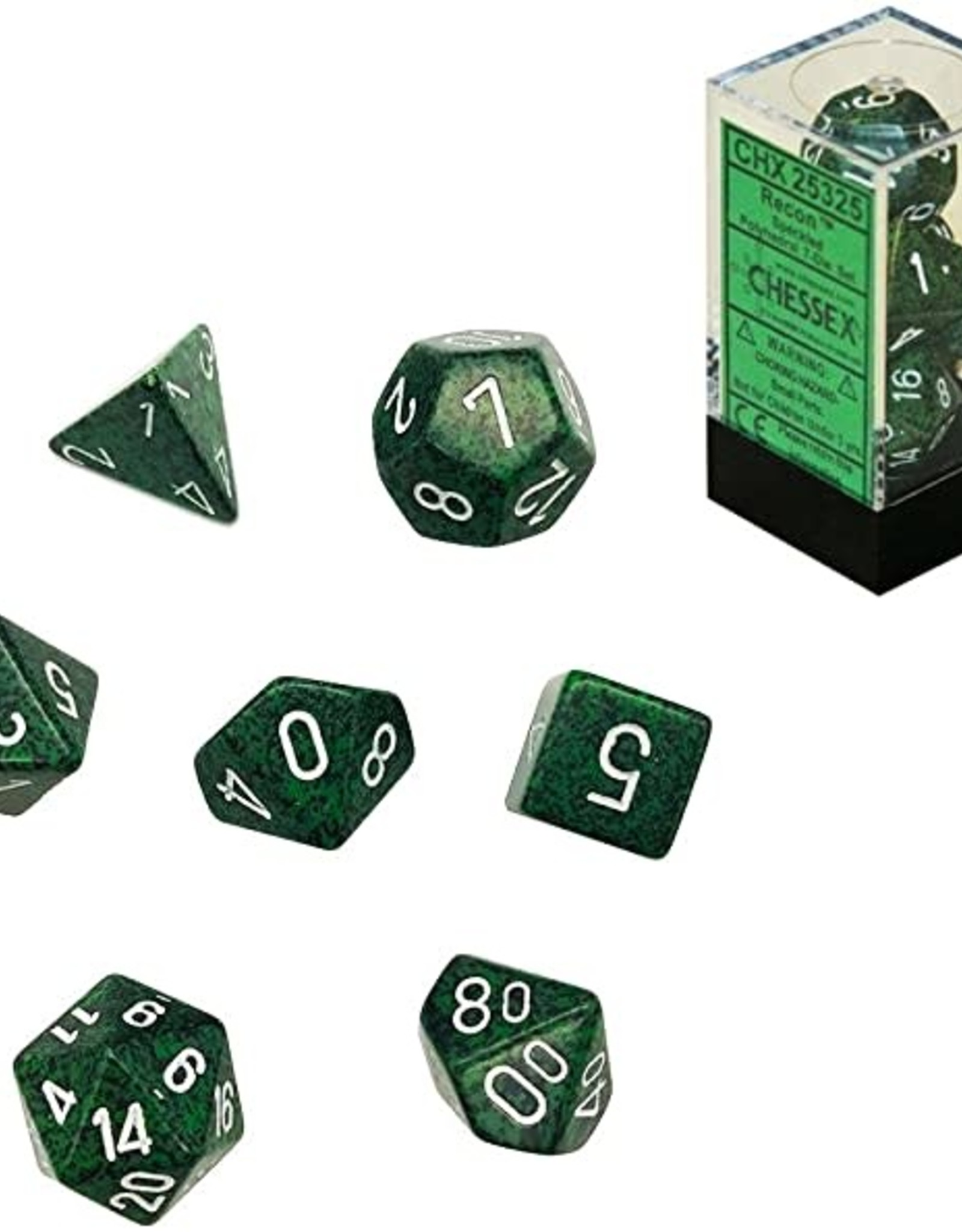 Chessex Chessex CHX25325 Dice - Speckled: 7Pc Recon