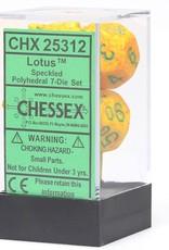 Chessex Chessex CHX25312 Dice-Speckled Lotus Set