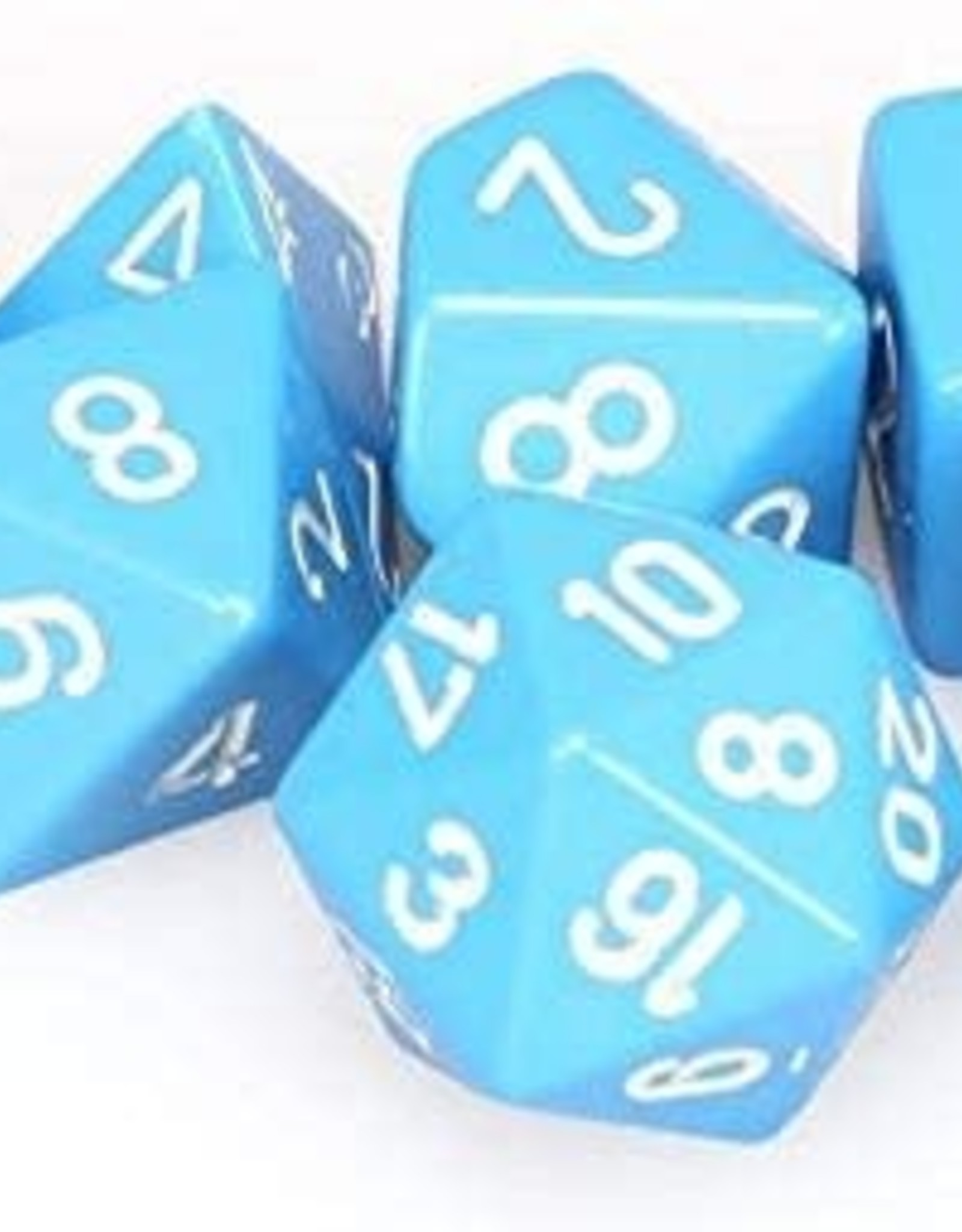 Chessex Chessex CHX25416 Dice-Opaque Light Blue/White Set