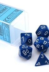 Chessex Chessex CHX25406 Dice-Opaque Blue/White Set
