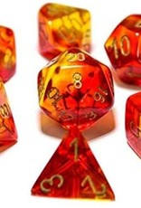 Chessex Chessex Gemini Translucent Polyhedral Dice Set Red and Yellow with Gold