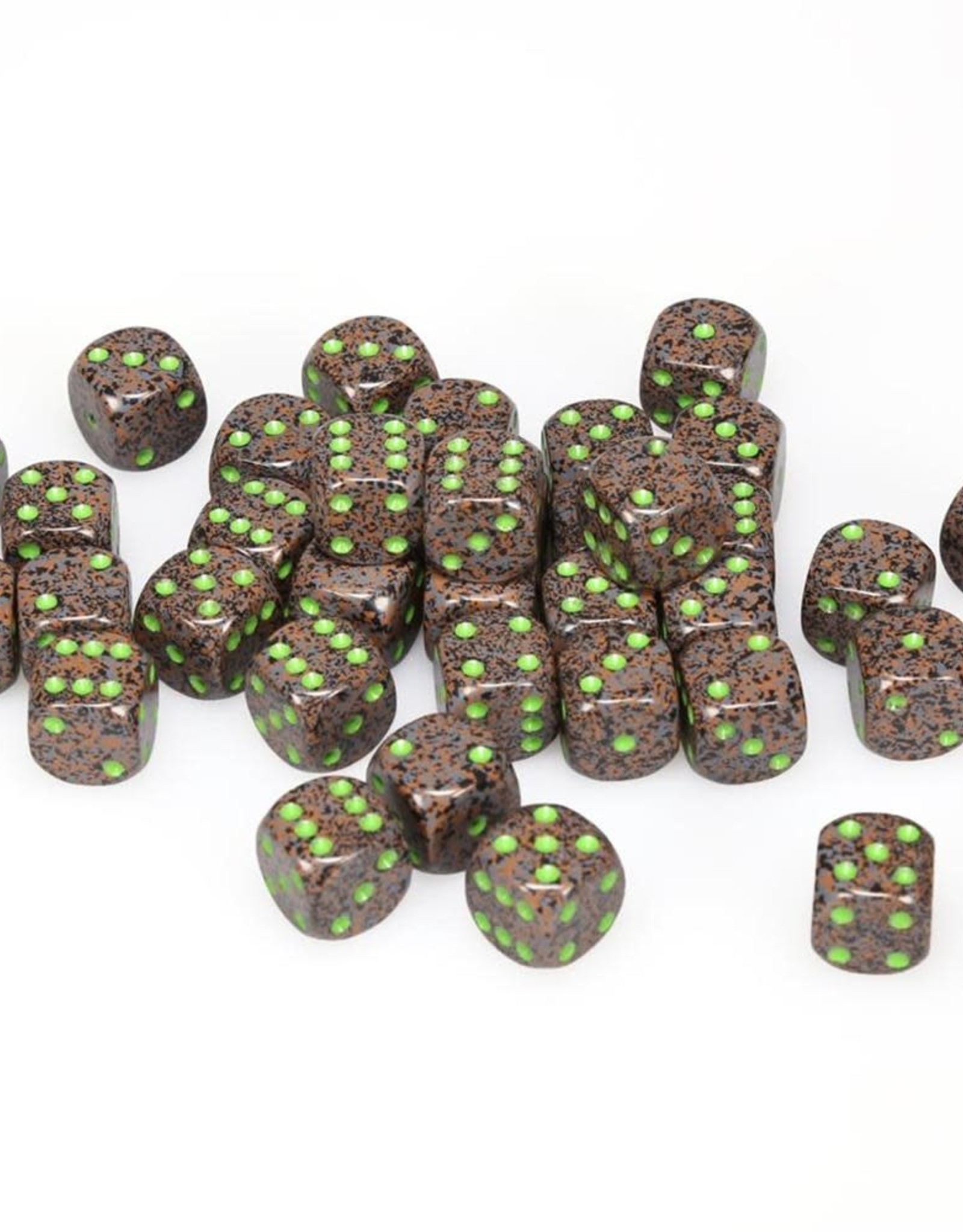 Chessex D6 12mm Earth (36) New