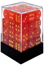 Chessex Chessex 6-Sided d6 Ghostly Glow 12mm Dice Pack #27923 [Orange & Yellow]