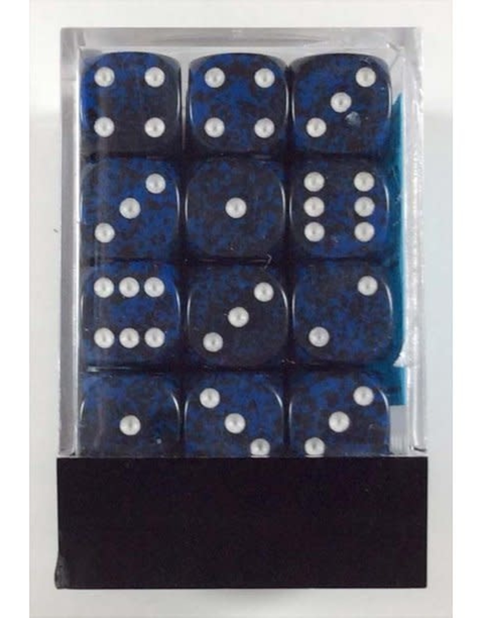 Chessex chessex 12mm d6 speckled stealth dice block - set of 36