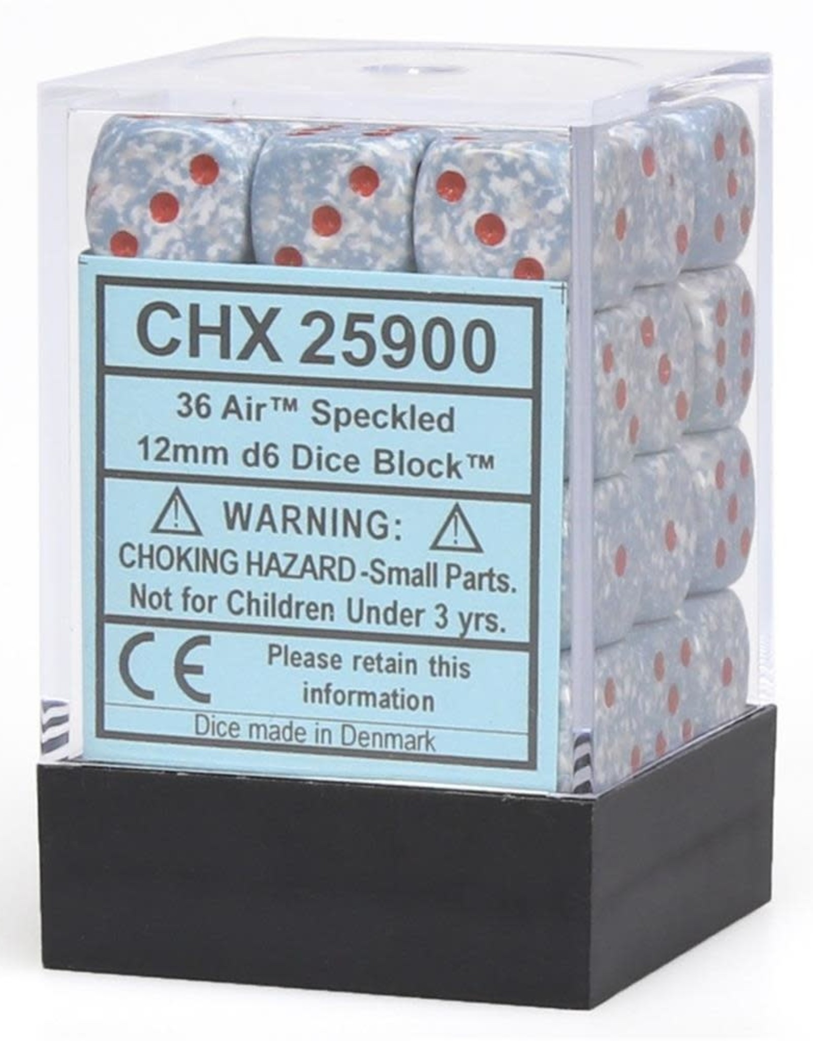 Chessex Chessex CHX25900 Dice-Speckled: 36D6 Air Set, Speckled Air