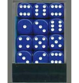 Chessex D6 12mm Blue w/White (36) New