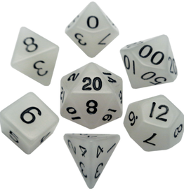 Metallic Dice Game Glow in the Dark Dice 7 set