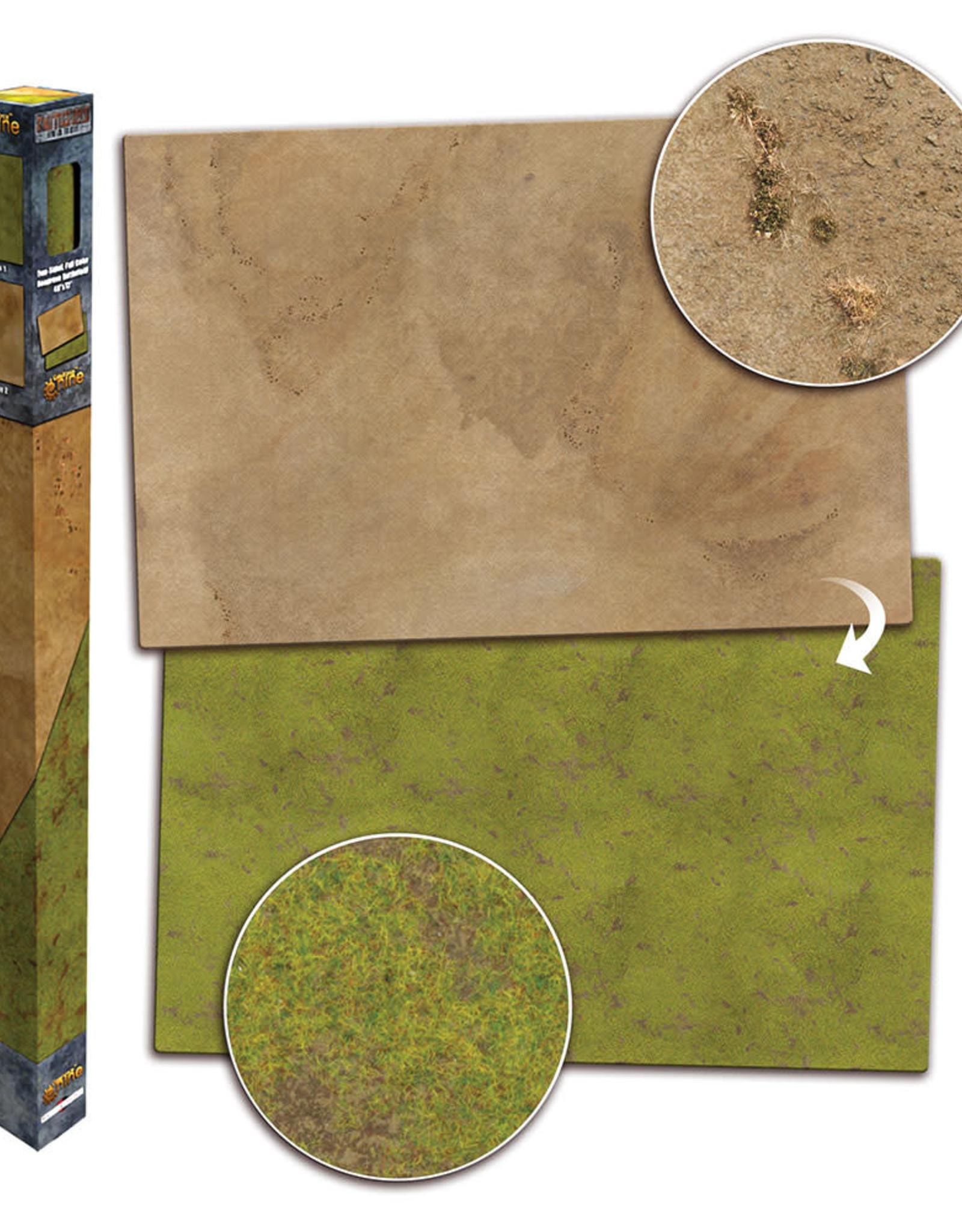 Gale Force 9 BB951 Gaming Mat – Grassland/Desert