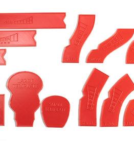Laser Craft Workshop LCW 9010 Gaslands Template (red)