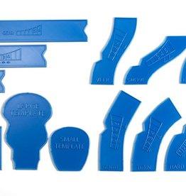 Laser Craft Workshop LCW 9011 Gaslands Template (blue)