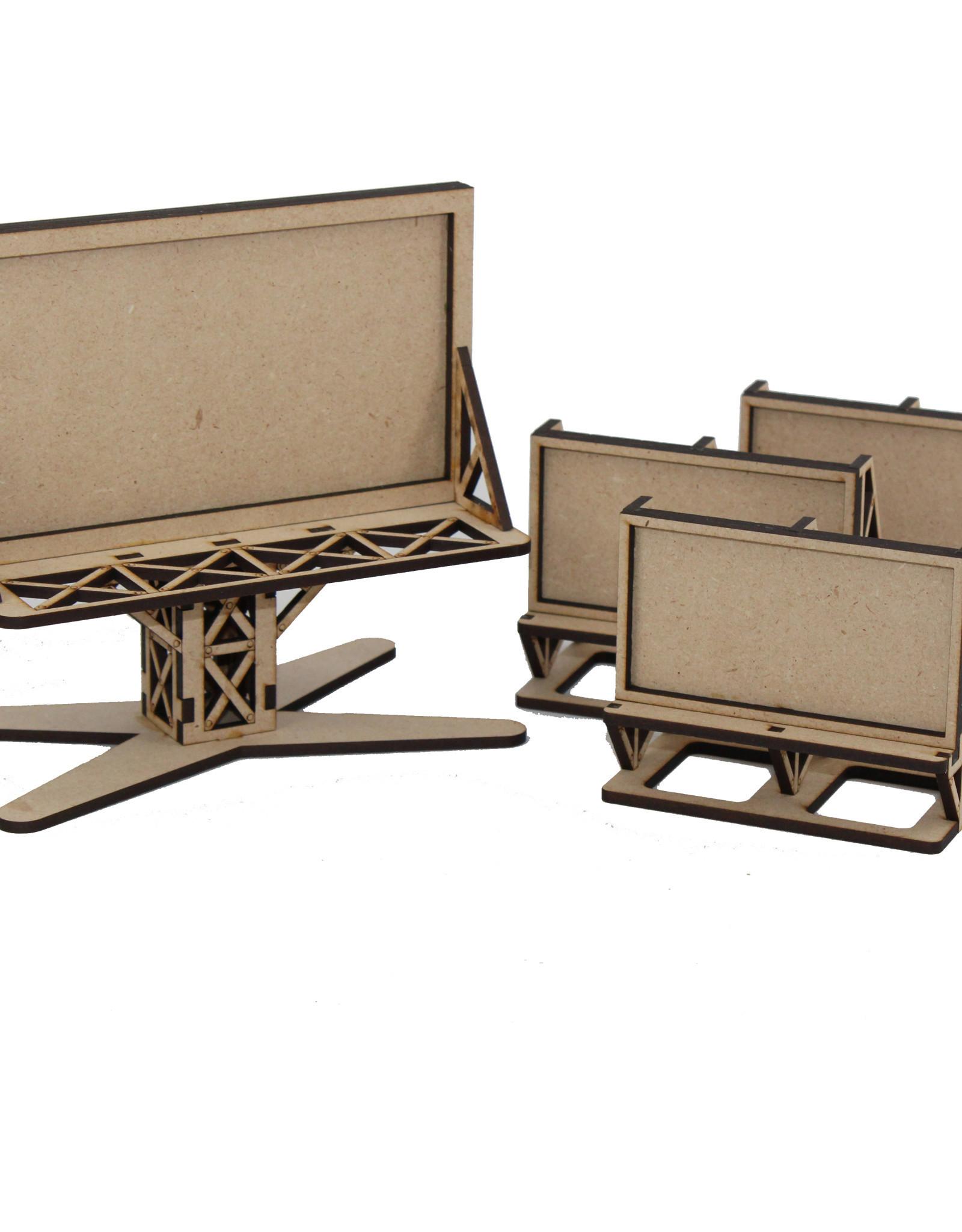 Laser Craft Workshop Gaslands Steel Gridwork Billboard Set