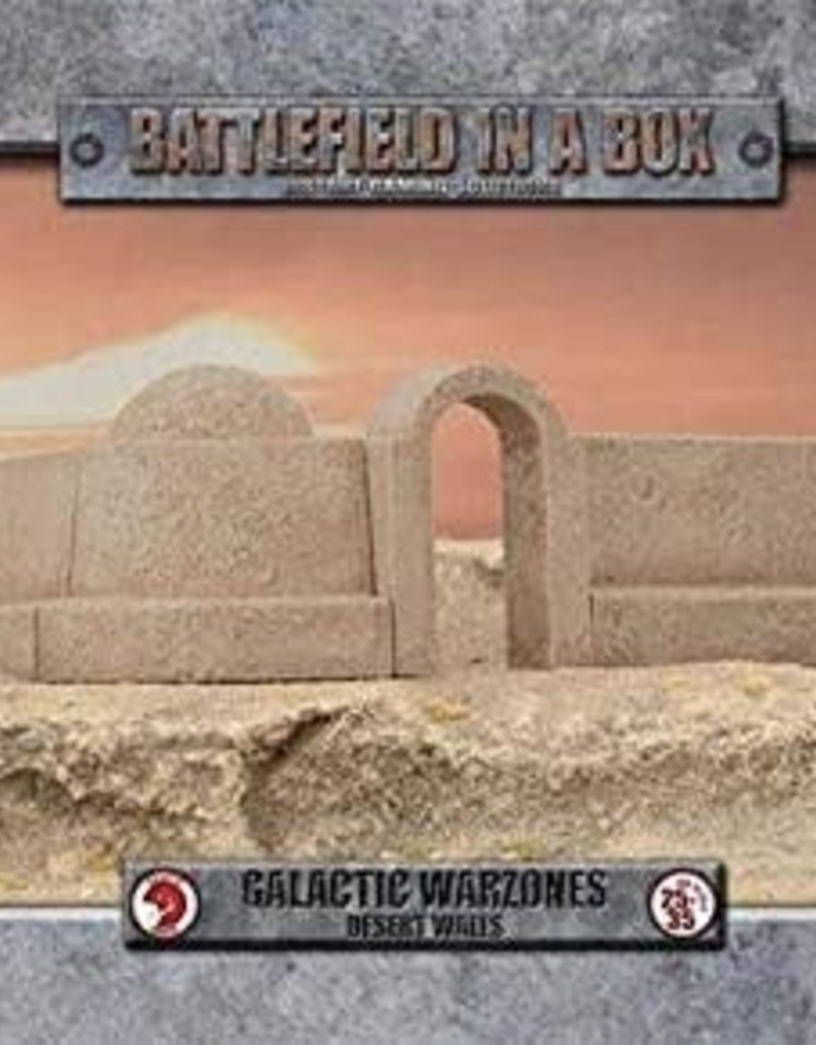 Gale Force 9 Battlefield in a Box Galactic Warzones Desert Walls