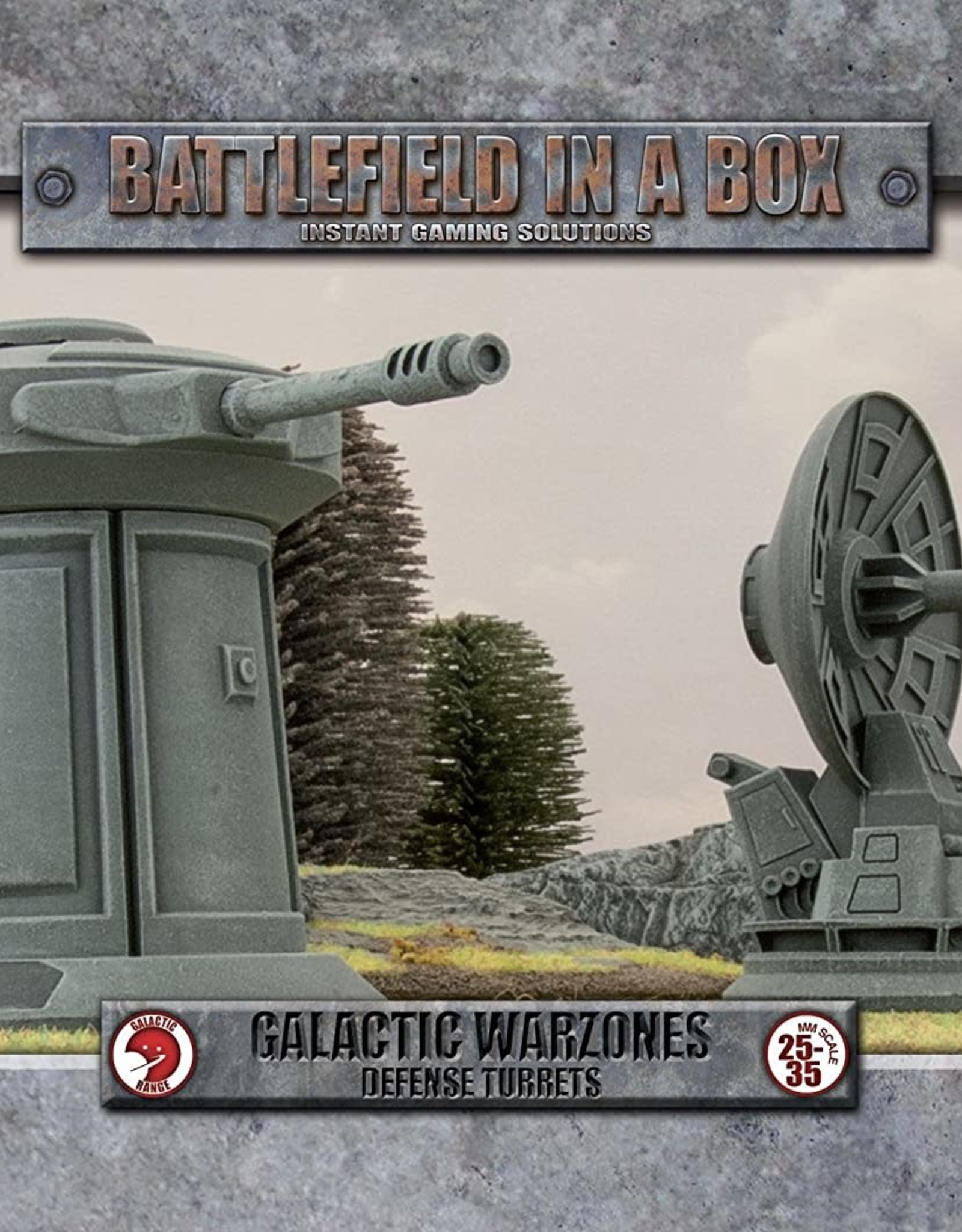 Gale Force 9 Battlefields in a Box Galactic Warzones Defense Turrets