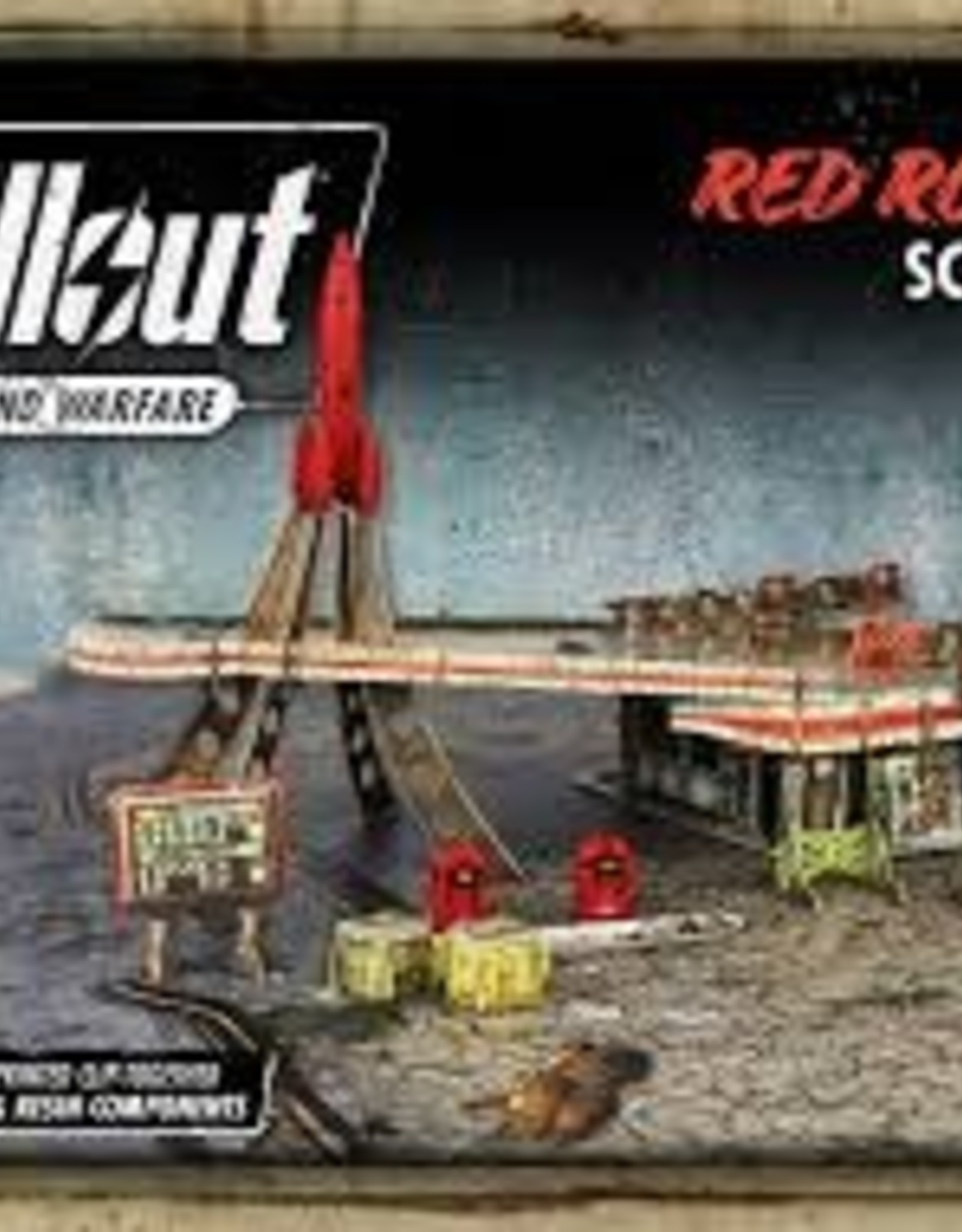 Modiphius Fallout Wasteland Warfare Red Rocket Scenic Set