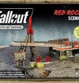 Modiphius Fallout Wasteland Warfare Red Rocket Scenic Set
