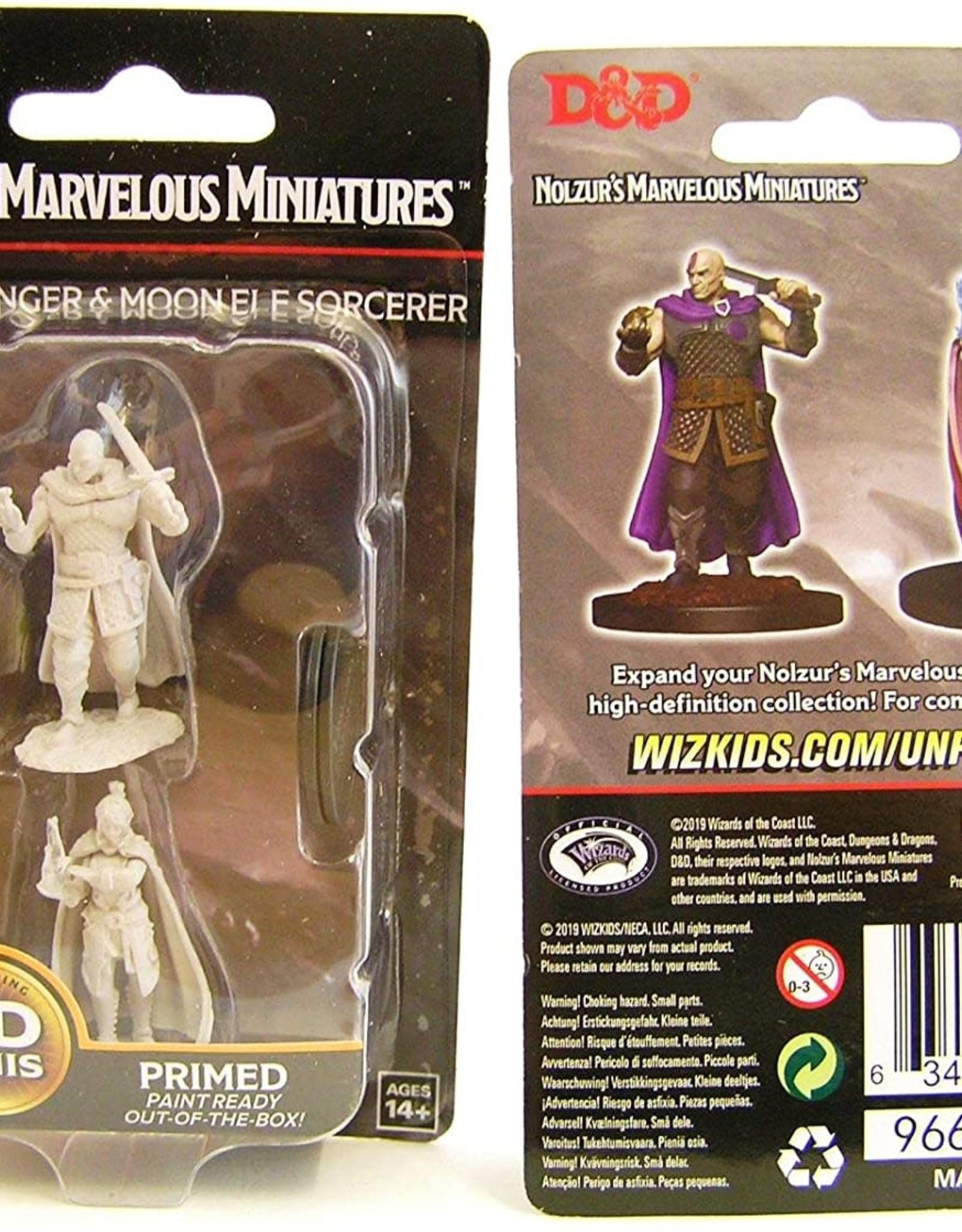 WizKids D&D Nolzur Human Ranger & Moon Elf Sorcerer
