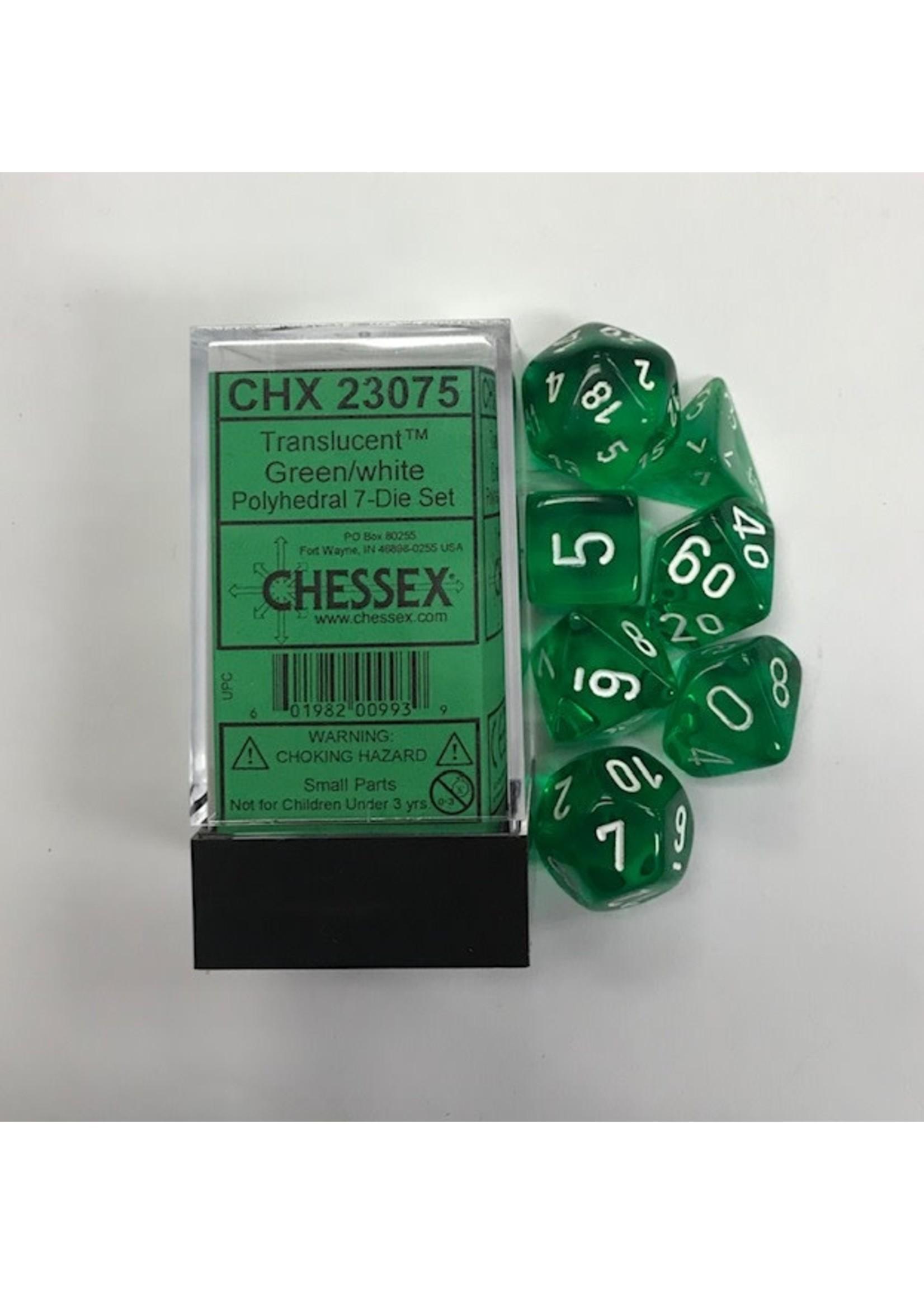Chessex 7-setCubeTR GRwh