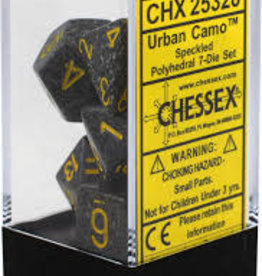 Chessex Chessex Speckled Urban Camo Polyhedral 7 Dice Set CHX25328