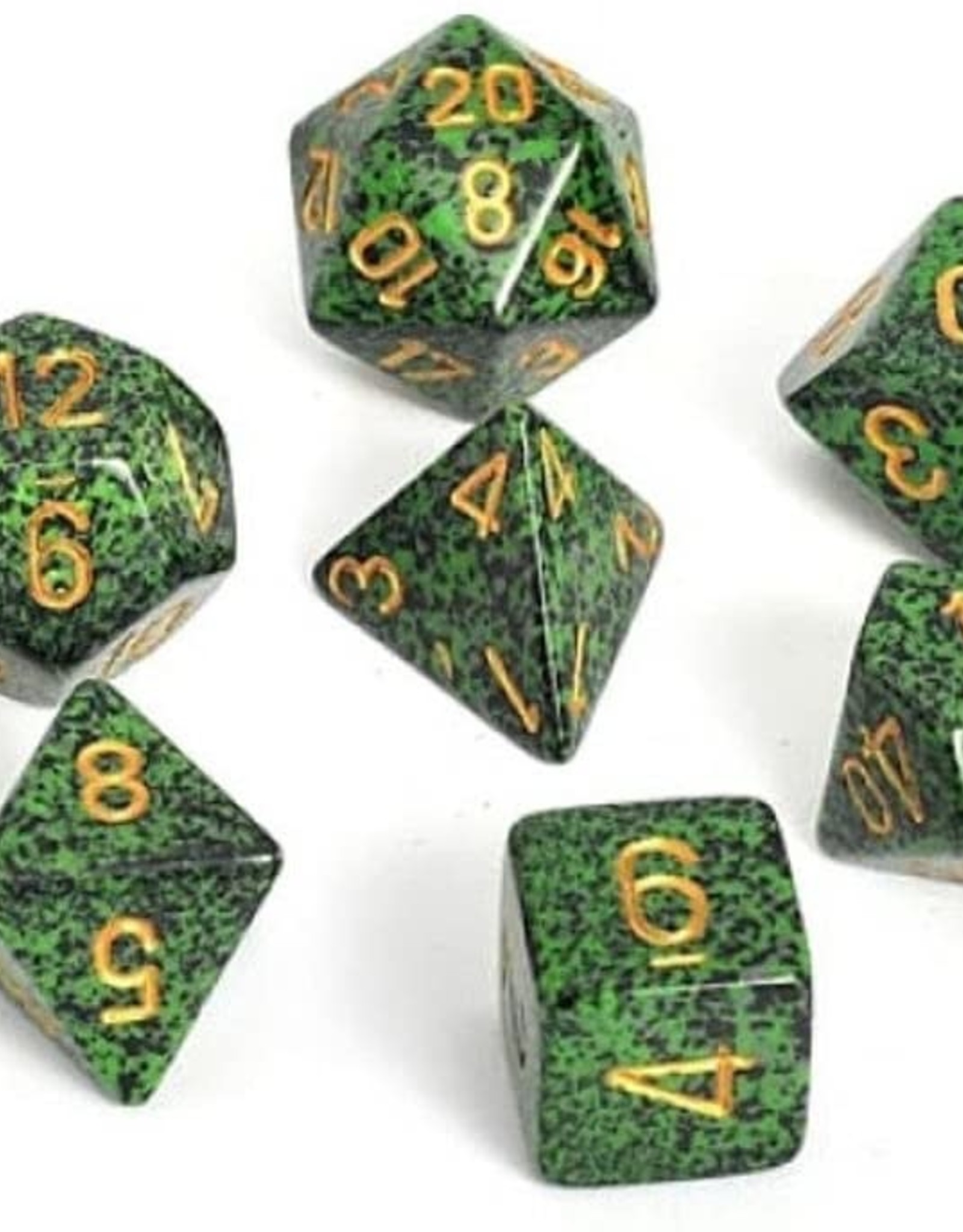 Chessex Chessex CHX25335 Dice-Speckled Golden Recon Set, One Size, Multicolor