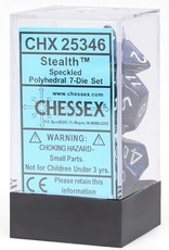 Chessex Speckled Poly 7 set: Stealth